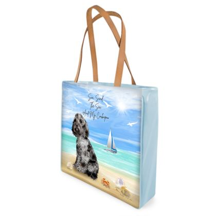 BLUE MERLE COCKAPOO BEACH BAG