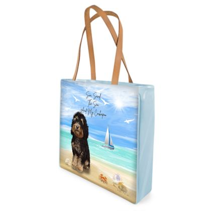 TRICOLOUR COCKAPOO BEACH BAG
