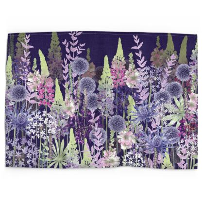 Midnight Flower Dance Tea Towel