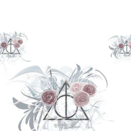 Kimono - Flower Triangle White