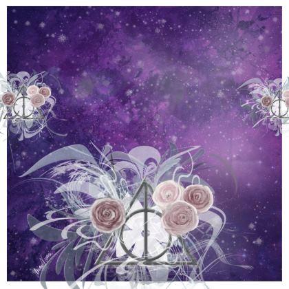 Kimono - Flower Triangle on Lila Sky