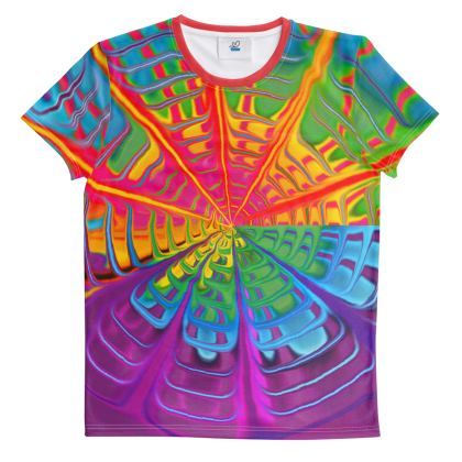 Cut And Sew All Over Print T Shirt Rainbow 1