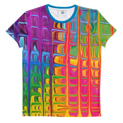Cut And Sew All Over Print T Shirt Rainbow 2