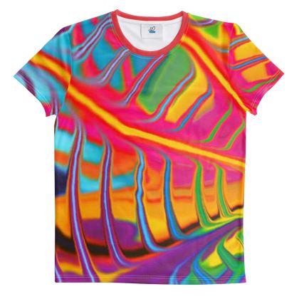 Cut And Sew All Over Print T Shirt Rainbow 3