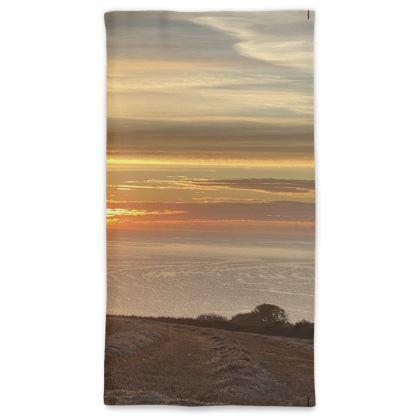 September Sunrise over Falmouth Bay Neck Gaiter