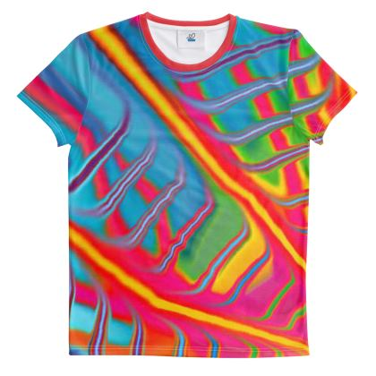 Cut And Sew All Over Print T Shirt Rainbow 4