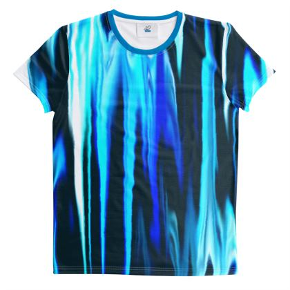 Cut And Sew All Over Print T Shirt Blue