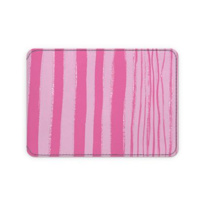 Stripe Print Card Holder