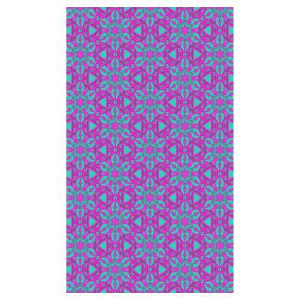 Mauve, Blue, Towels  Geometric Florals  Pansy