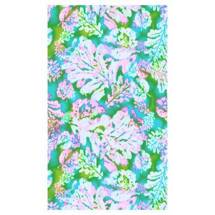 Pink, Green Towels  [99 cm x 58 cm shown]  Oaks  Marble