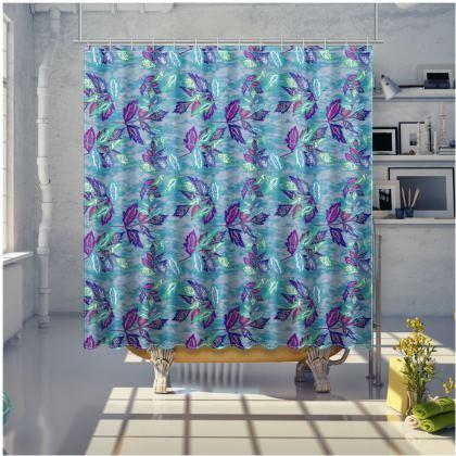 Blue Shower Curtain [large shown]  Slipstream  Atlantic