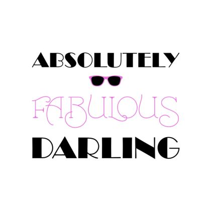 Fabric Placemats - Absolutely Fabulous Darling - ABFAB