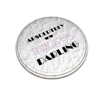 Leather Coasters - Absolutely Fabulous Darling - ABFAB