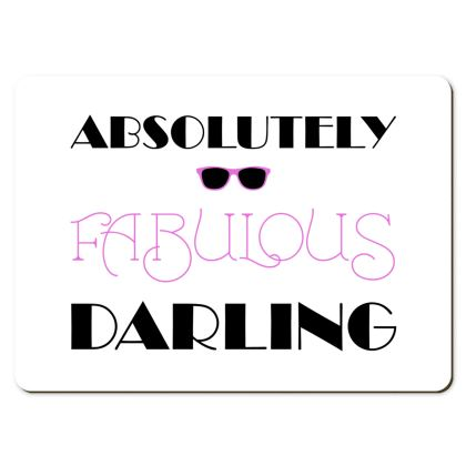 Large Placemats - Absolutely Fabulous Darling - ABFAB