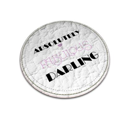 Leather Coasters - Absolutely Fabulous Darling - ABFAB 2