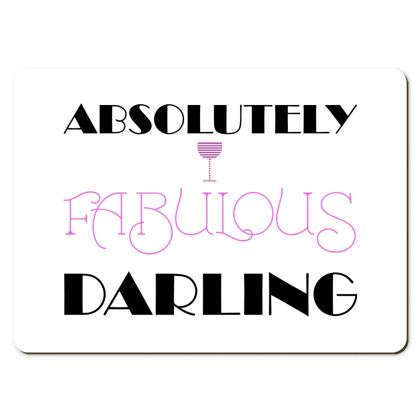 Large Placemats - Absolutely Fabulous Darling - ABFAB 2