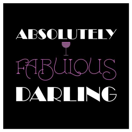 Coasters - Absolutely Fabulous Darling - ABFAB (White text) 2