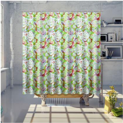 Green Shower Curtain  Slipstream  Nutcracker