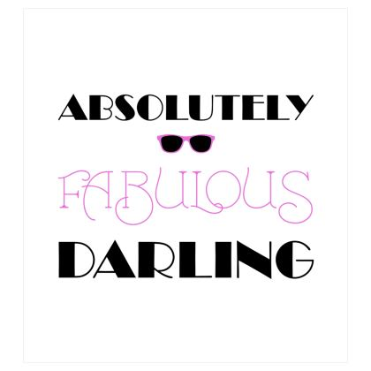 Voile Curtains (167cmx182cm) - Absolutely Fabulous Darling - ABFAB