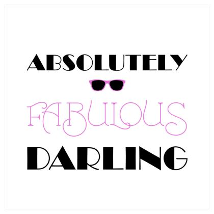 Voile Curtains (229cmx229cm) - Absolutely Fabulous Darling - ABFAB