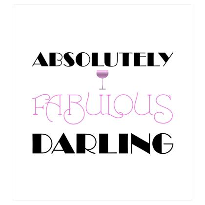 Voile Curtains (167x182cm) - Absolutely Fabulous Darling - ABFAB 2