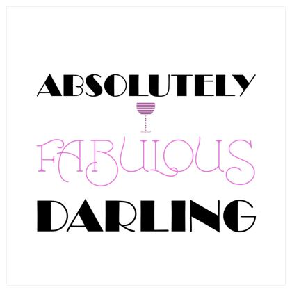 Voile Curtains (167x229cm) - Absolutely Fabulous Darling - ABFAB 2
