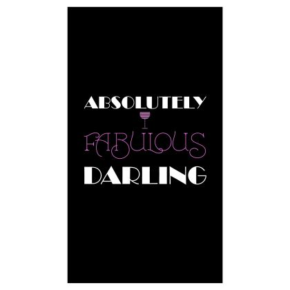 Roller Blinds (91x162cm) - Absolutely Fabulous Darling - ABFAB (White text) 2