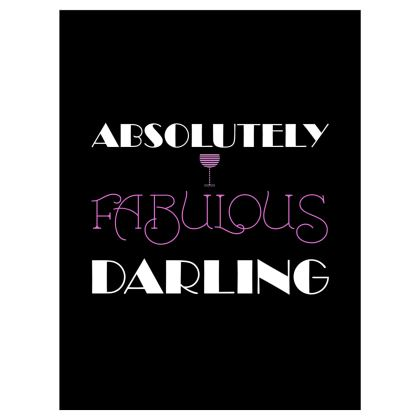 Roller Blinds (122x162cm) - Absolutely Fabulous Darling - ABFAB (White text) 2