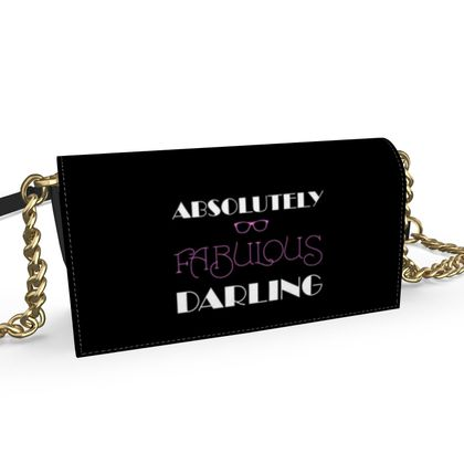 Oana Evening Bag - Absolutely Fabulous Darling - ABFAB (White text)