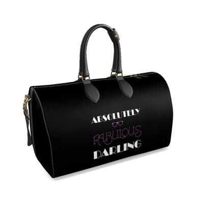 Duffle Bag - Absolutely Fabulous Darling - ABFAB (White text)