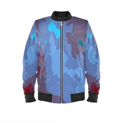Mens Bomber Jacket - Abstract Colours