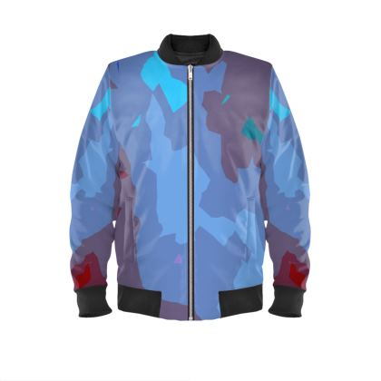 Ladies Bomber Jacket - Abstract Colours