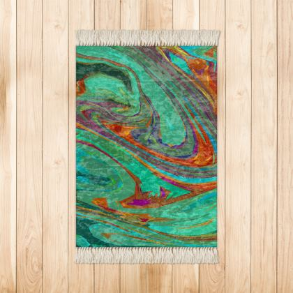 Small Rug (90x63cm) - Abstract Diesel Rainbow 2