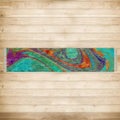 Long Runner (290x63cm) - Abstract Diesel Rainbow 2