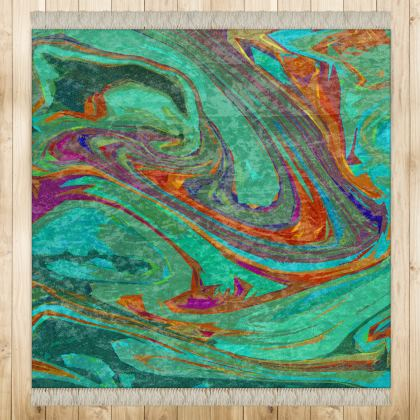 Medium Rug (128x128cm) - Abstract Diesel Rainbow 2