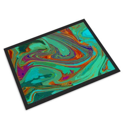 Door Mat - Abstract Diesel Rainbow 2