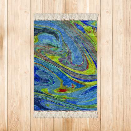 Small Rug (90x63cm) - Abstract Diesel Rainbow 3