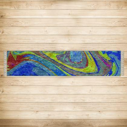 Long Runner (290x63cm) - Abstract Diesel Rainbow 3