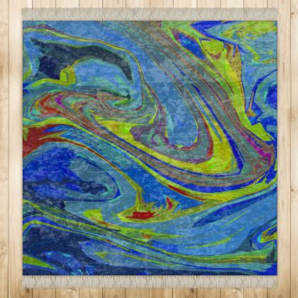 Medium Rug (128cmx128cm) - Abstract Diesel Rainbow 3