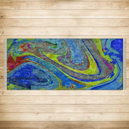 XL Rug (128x290cm) - Abstract Diesel Rainbow 3