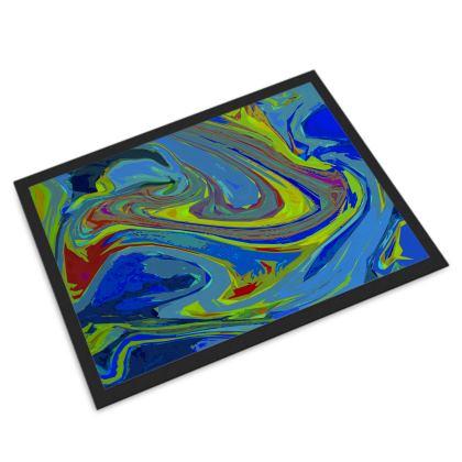 Door Mat - Abstract Diesel Rainbow 3