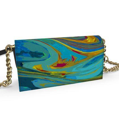Oana Evening Bag - Abstract Diesel Rainbow 1