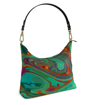 Square Hobo Bag - Abstract Diesel Rainbow 2