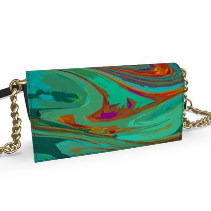 Oana Evening Bag - Abstract Diesel Rainbow 2
