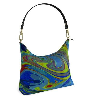 Square Hobo Bag - Abstract Diesel Rainbow 3