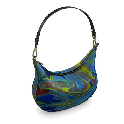 Curve Hobo Bag - Abstract Diesel Rainbow 3