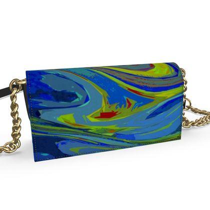 Oana Evening Bag - Abstract Diesel Rainbow 3