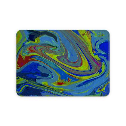 Leather Card Case - Abstract Diesel Rainbow 3