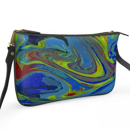 Pochette Double Zip Bag - Abstract Diesel Rainbow 3