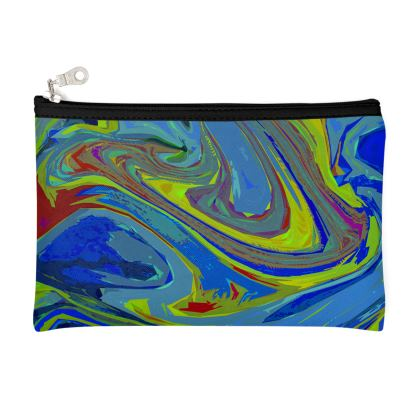 Zip Top Pouch - Abstract Diesel Rainbow 3